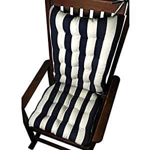 Rocking Chair Cushions Coastal Cabana Stripe