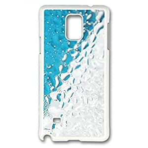 E-luckiycase PC Hard Shell Abstract Wet Rainy Glass White Skin Edges for Samsung Galaxy Note 4 Case