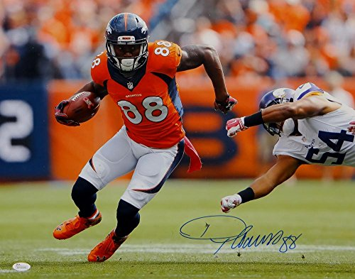 Demaryius Thomas Autographed Broncos 16x20 Running W/ Ball Photo- JSA W Auth