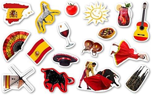 XXL de confeti grande * España * con 51 grandes piezas de confeti para una fiesta de temática o Países de fiesta//Fiesta Niños Cumpleaños confeti Deko temática Spain Tauromaquia Rojo Vino Bandera: