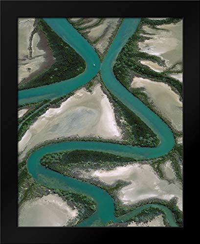 - Meandering Rivers, Gulf of Carpentaria, Northern Territory, Australia Framed Art Print by Ferrero, Jean-Paul