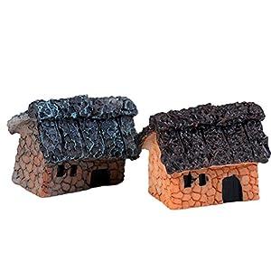 2X milopon decorazione Micro Paesaggio Mini Giardino In Miniatura Hütten in resina per casa delle bambole Mobili per casa delle bambole Mobili da giardino decorazione da giardino... Stil E 6 spesavip