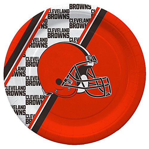 NFL Cleveland Browns Disposable Paper Plates, Pack of 20