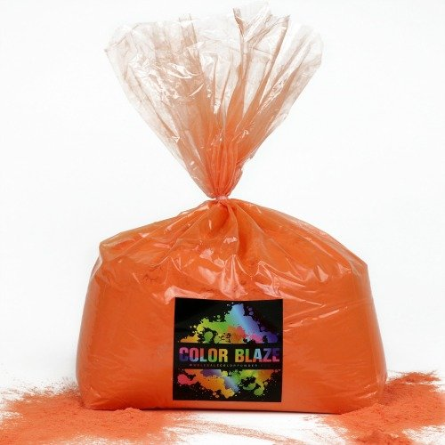Color Powder Orange 25lbs -Ideal for color run events, youth group color wars, Holi events and more! Blue, Green, Red, Purple, Pink, Yellow and Teal Available