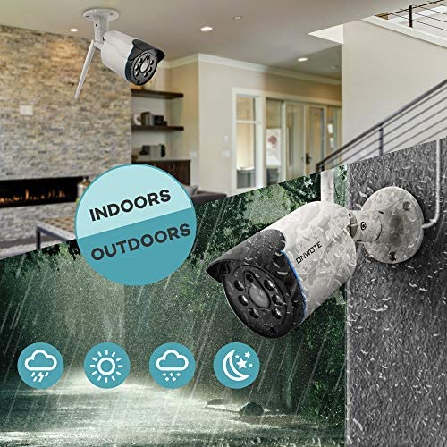 【Expandable 8CH, Audio】 ONWOTE 1080P Wireless WiFi Security Camera System Outdoor, 8 Channel NVR, (4) 1080P 2.0MP IP Security Surveillance Cameras for Home, One-Way Audio, 80ft IR, No Hard Drive 5185zVnBOeL