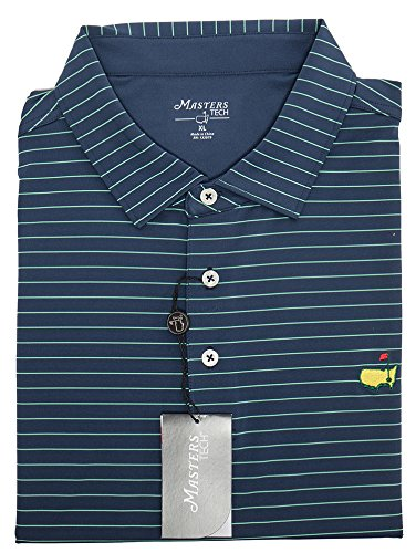 Great Golf Memories Masters Navy Blue Tech Collection Shirt (Small) (Great Golf Memories)