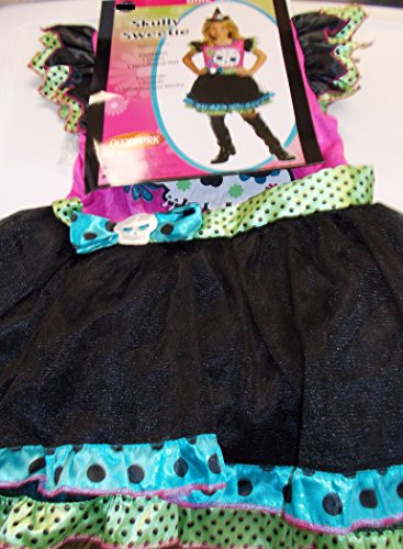 Skully Sweetie Witch Girls Dress Costume XL 14-16