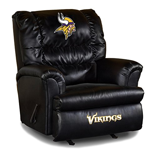 Imperial Officially Licensed NFL Furniture: Big Daddy Leather Rocker  Recliner, Minnesota Vikings