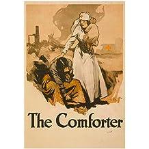 The Comforter Nurse War Proganda Vintage Ad Poster Print