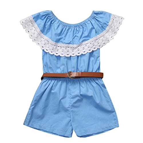 [WensLTD Family Matching Clothes Mommy & Me Off Shoulder Lace Jumpsuit Romper Playsuit Belt Outfits (L(Women),] (Lady Santa Outfit)