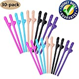 Bachelorette Party Drinking Straws-Fun Party Drinking Straws-Bachelor Party Supplies Fun Bachelorette Straw for Naughty Party, Birthday Party, Bridal Showers (30 Pack, Multi Colors)