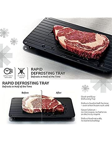 Frozen Food Quickly Aluminum Defrosting Tray Fast Thawing Plate Board Kitchen Chef Cooking Tool Without Electricity