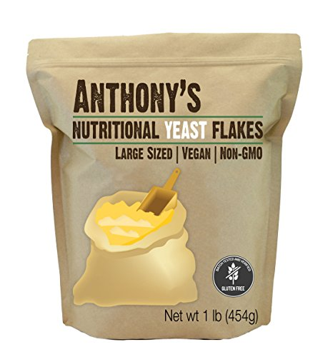 Anthony's Premium Nutritional Yeast Flakes (1lb), Verified Gluten Free by Anthony's
