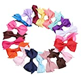MinGe 10/20 Pieces Bow Hair Clips Kids Sides Accessories Hair Clip for Toddler Girls Mixed Color