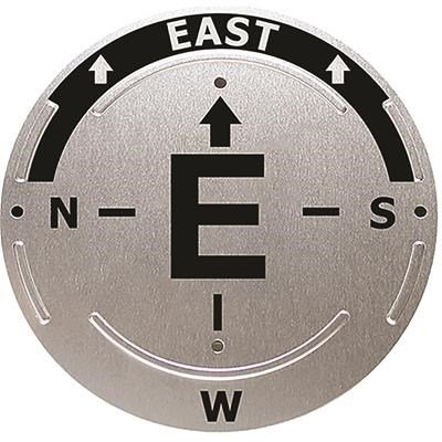 """Trailite Trail Direction Marker, EAST - Sign to Help Guide in the Proper Direction, 4.5"""" Diameter Circle"""