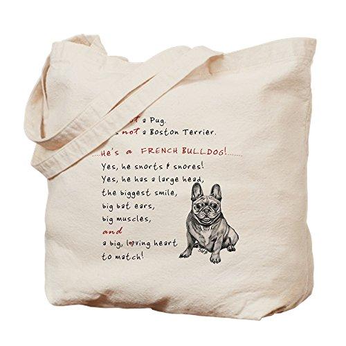 CafePress–que no de un perro. (sonriente) gamuza de bolsa–bolsa de lona bolsa, bolsa de la compra Small caqui