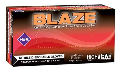 High Five Blaze N482 Series N48 Nitrile Exam Glove, Medium (Case of 10)