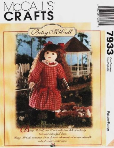 McCall's 7933 Betsy McCall Doll with Clothes Sewing Pattern ~ VINTAGE