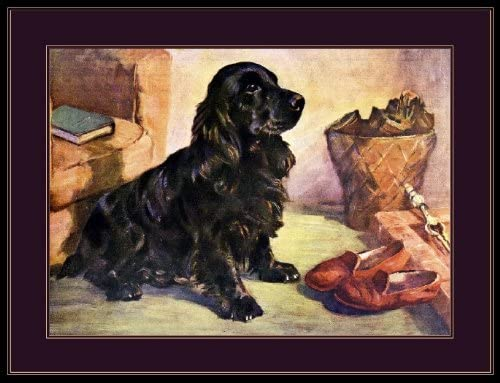 English Print Cocker Spaniel Dog Puppy Dogs Puppies Poster Vintage Art Picture