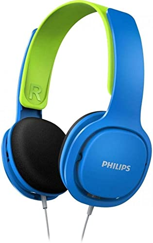 Philips Coolplay Kids On-Ear Headphones – 85dB Volume Limiter – Safer Hearing SHK2000BL