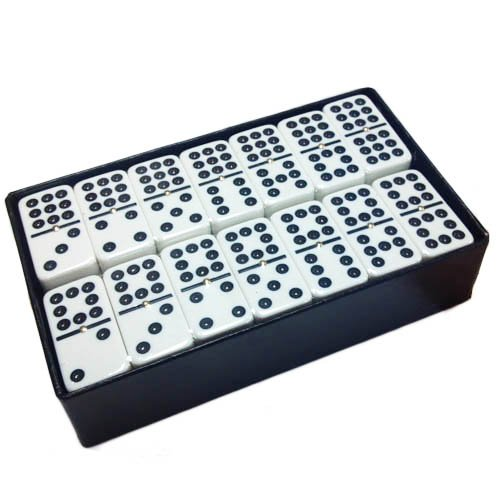 (Domino Double 9 White Extra Jumbo Tournament Size)