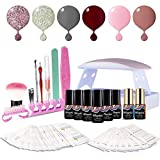 Maphie Gel Nail Starter Kit with UV Light, Mini 6 6ml Soak Off - Best Reviews Guide
