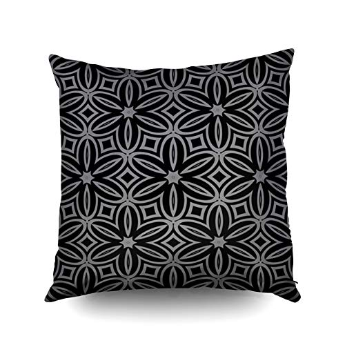 KIOAO Easter Pillowcase Standard 18X18Inches Square Cushion Home Décor Modern Stylish Geometry Pattern Art Background Luxury Texture Invitation Wallpaper Pillow Cover Printed with Both Sides