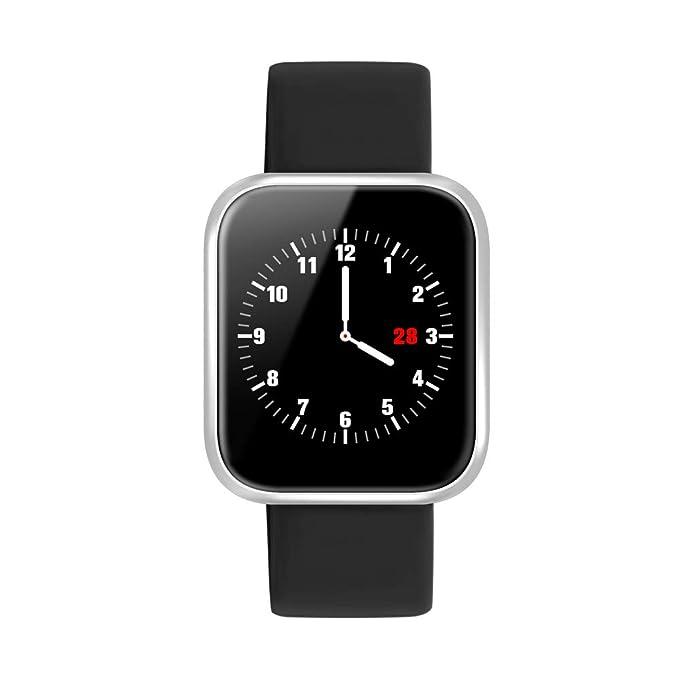 Smartwatch, Reloj Inteligente Bluetooth Smart Watch Hombres Mujeres Niños IP68 Impermeable Deportes Fitness Tracker,Pulsómetro, Monitor de ...