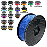 TIANSE 1KG Blue 1.75mm PLA 3D Printer Filament, Dimensional Accuracy +/- 0.03 mm, 2.2 Pound Spool