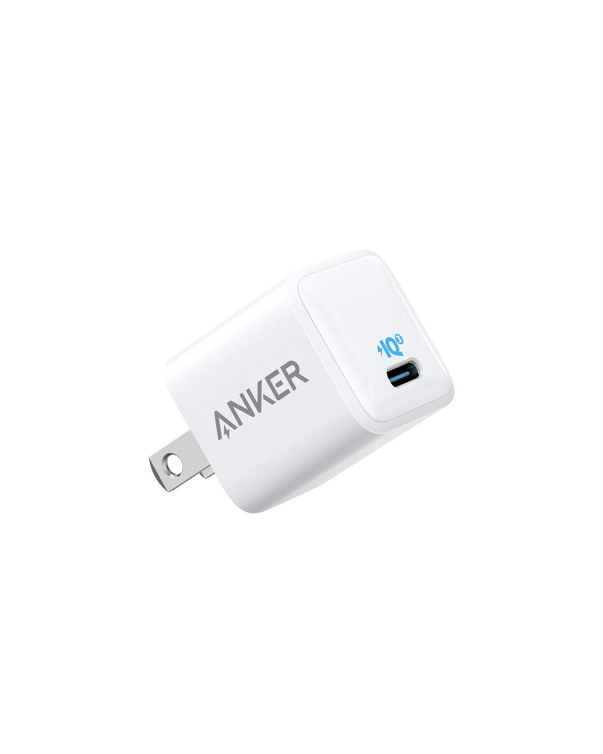 Anker USB C Charger, 18W PIQ 3.0 Type C Wall Charger, PowerPort III Nano Compact Travel Charger Adapter, for iPhone 11/11 Pro / 11 Pro Max/XR/XS/X, Galaxy S10 / S9, Pixel, iPad Pro and More by Anker