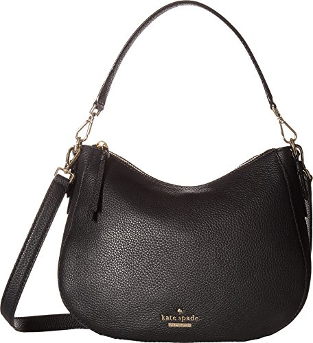 New York Small Hobo (Kate Spade New York Women's Jackson Street Small Mylie Bag, Black/Soft Porcelain, One Size)