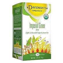 Davidson's Tea Imperial Green Tea, 25-Count Tea Bags (Pack of 6)