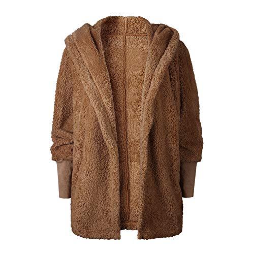 Sweat Capuche Pullover Manche en Femme Kaki Longue Peluche AIMEE7 Taille Grande Manteau OwzqBvZ8