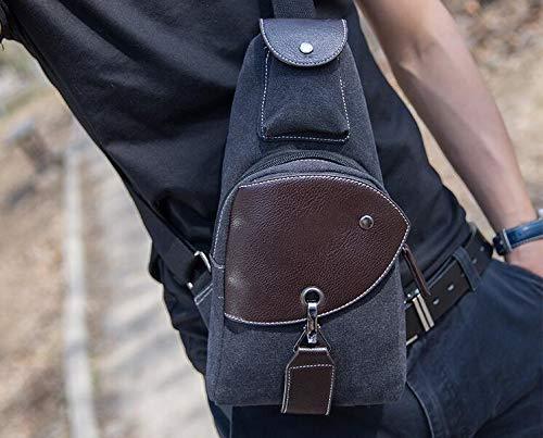 Mode Homme À Multifonction Pour Plein Dos Air De Sports noir Sac Bandoulière Élégant HvqwTnT41