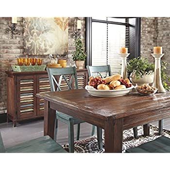 Ashley Furniture Signature Design   Mestler Dining Room Server   2 Cabinet  Serving Table   Dark