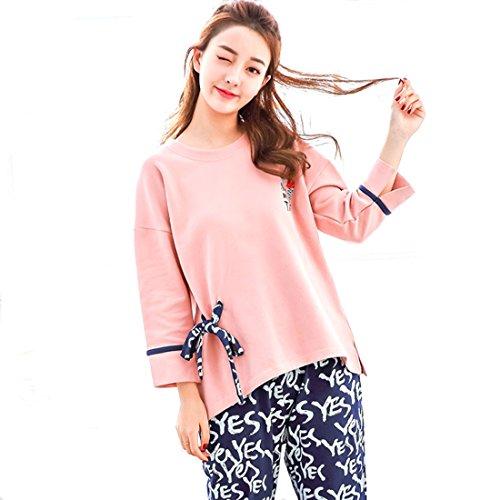 Autunno Vestiti Da Pigiama Donna Casual Comfort Autunno Pigiama Set Donna In Casa Da Cotone XL Pink Loveni In Cotone vFYxwqxd