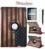 ipad 3 case vintage - TCD iPad 2 3 4 Generation USA Vintage Rustic American Flag 360 Pu Leather Cover Stand Case with Stylus Pen and Screen Protector