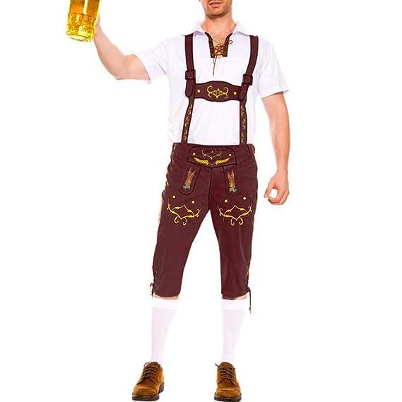 Puimentiua Trajes Alemán para Hombre Traje de Ropa de ...