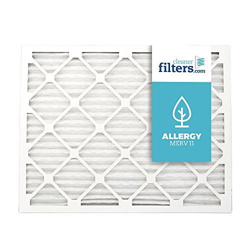 Cleaner Filters 20x25x1 Air Filter, Pleated High Efficiency Allergy Furnace Filters for Home or Office with MERV 11 Rating (1 Pack)
