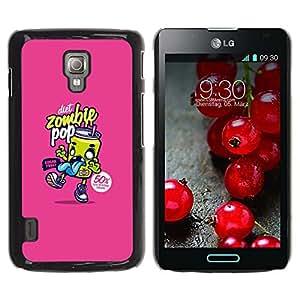 TopCaseStore / la caja del caucho duro de la cubierta de protección de la piel - Graffiti Pop Soda Food Art Street - LG Optimus L7 II P710 / L7X P714