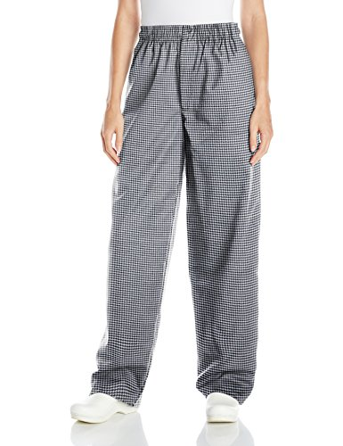 Uncommon Threads Unisex Baggy Chef Pant, Houndstooth, Large