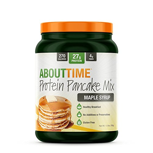 SDC Nutrition About Time Protein Pancake Mix, Maple Syrup, 1.5 Pound