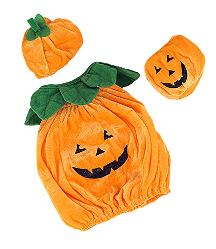 [Pumpkin Jack-O-Lantern Outfit Teddy Bear Clothes Outfit Fits Most 14