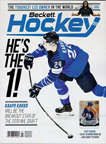 (July 2019 Beckett Hockey Monthly Magazine - Kaapo Kakko Draft Cover )