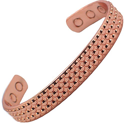 MPS® Bracelet jonc, Bracelet magnétique en cuivre, Avec six aimants--#N-BAC-1091-MJUK