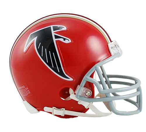 Throwback Helmet Nfl Football (Atlanta Falcons 1966-69 Throwback NFL Riddell Replica Mini Helmet)