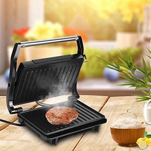 Grille-Viande Grill Barbecue Electrique 750W Viande Panini Sandwich Revêtement Antiadhésif 3 Portions