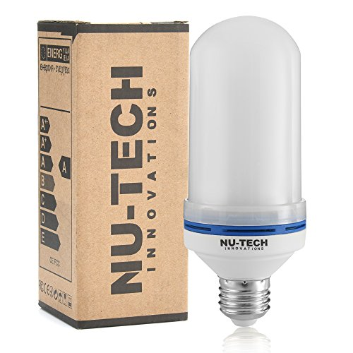 [PREMIUM] LED Flame Effect Light Bulb by Nu-Tech LLC LED Flickering Fire | Simulated Light For A Decorative Vintage In Bar, Festival, Outdoor, Indoor | Save Energy and Impress Friends | E26 Socket by Nu-Tech Innovations, LLC