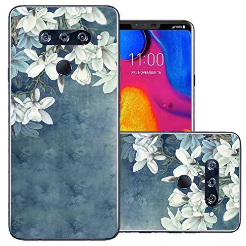 LG V40 ThinQ Case, LG V40 Case, Starhemei Full-Body Protection TPU Soft Shell Ultra Thin Flexibility Bumper Rubber Case Cover for LG V40 Storm (Faint Blue)