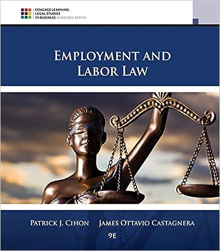 Employment and Labor Law: Patrick J  Cihon, James Ottavio